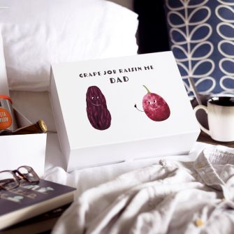 Grape Job Father's Day Gift Box with breakfast in bed on Father's Day