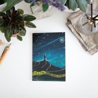 Follow Your Own Star - Recycled Notebook