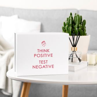 Think Positive, Test Negative White Magnetic Gift Box